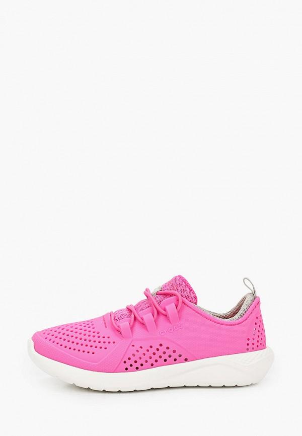кроссовки crocs для девочки, розовые