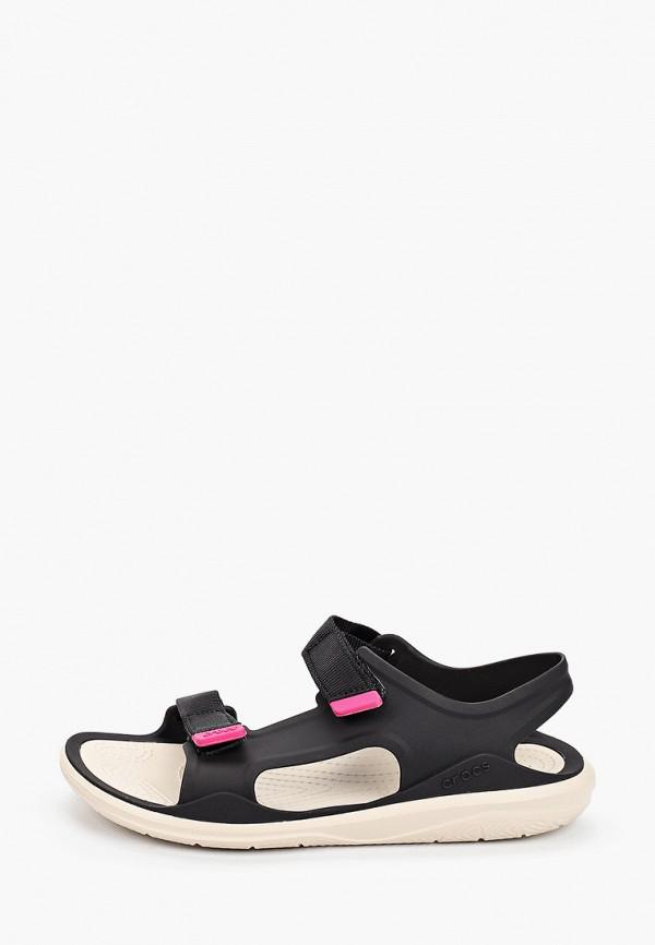 женские сандалии crocs, черные