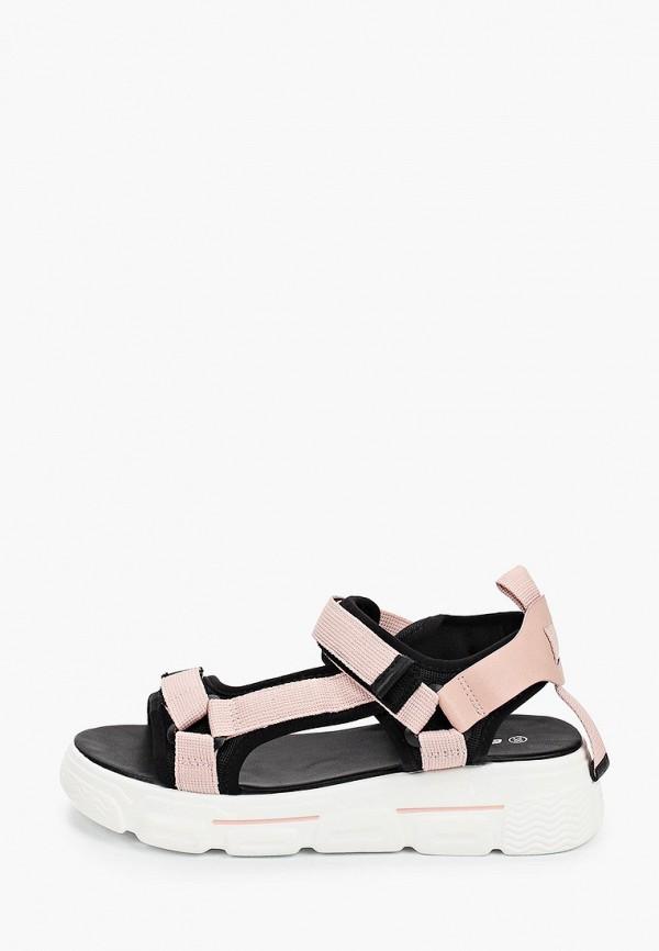 женские сандалии escan, розовые