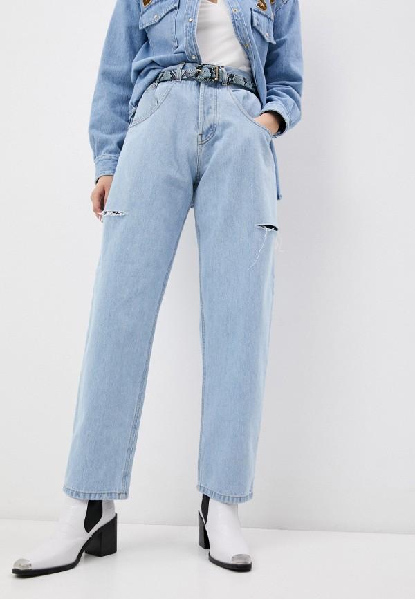 женские прямые джинсы forte dei marmi couture, голубые