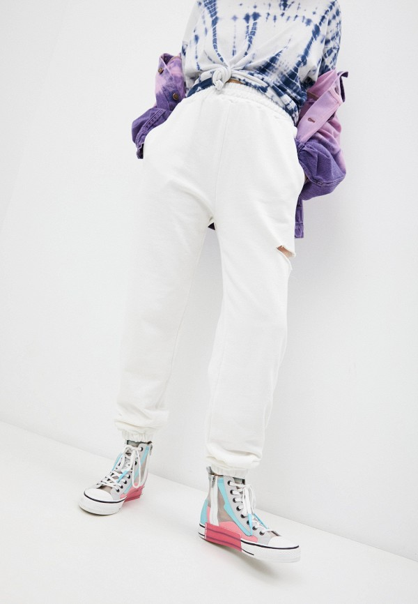 женские спортивные брюки forte dei marmi couture, белые
