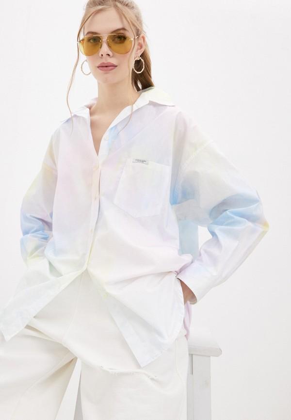 женская рубашка с длинным рукавом forte dei marmi couture, разноцветная