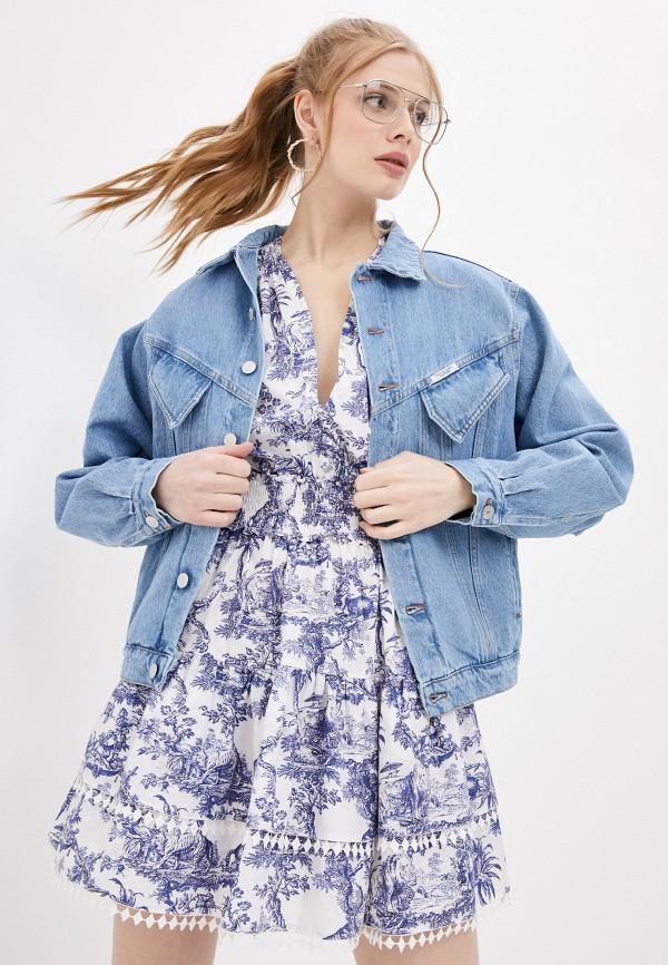 женская джинсовые куртка forte dei marmi couture, голубая