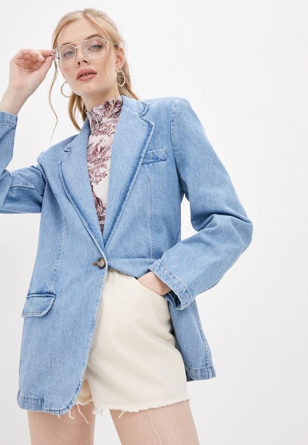 женский пиджак forte dei marmi couture, голубой
