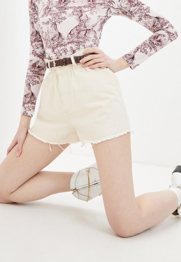 женские джинсовые шорты forte dei marmi couture, бежевые