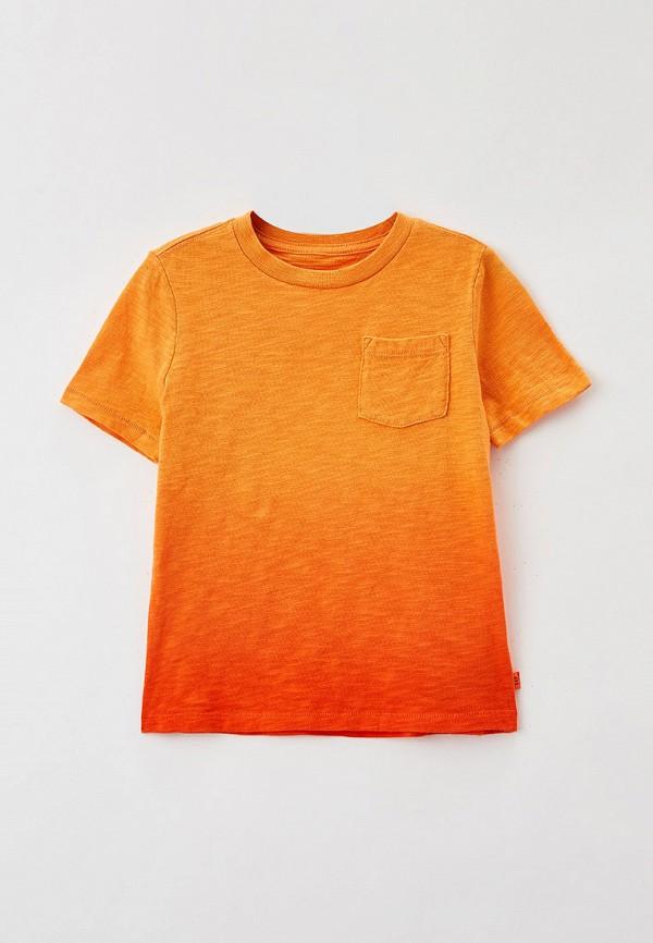 футболка с коротким рукавом gap для мальчика, оранжевая