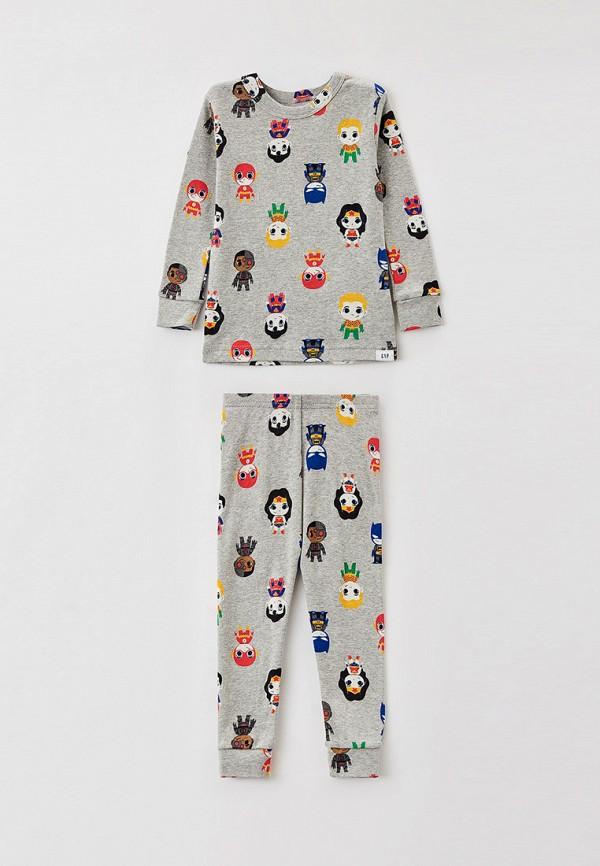 пижама gap для мальчика, серая