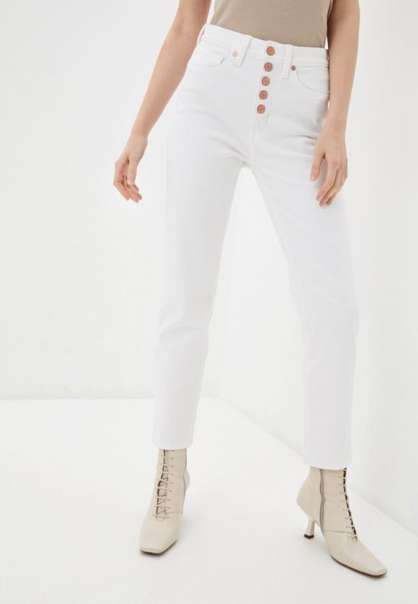 женские прямые джинсы banana republic, белые