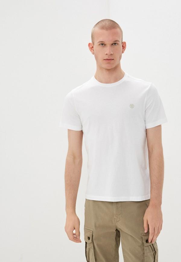 мужская футболка с коротким рукавом banana republic, белая
