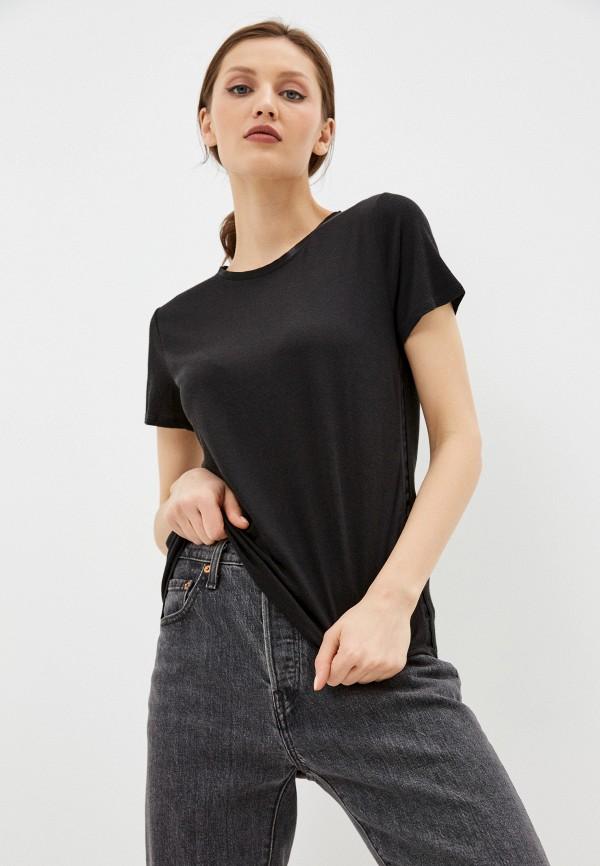 женская футболка banana republic, черная