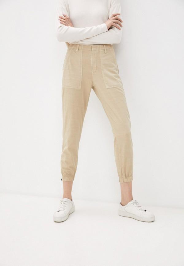 женские зауженные брюки gap, бежевые