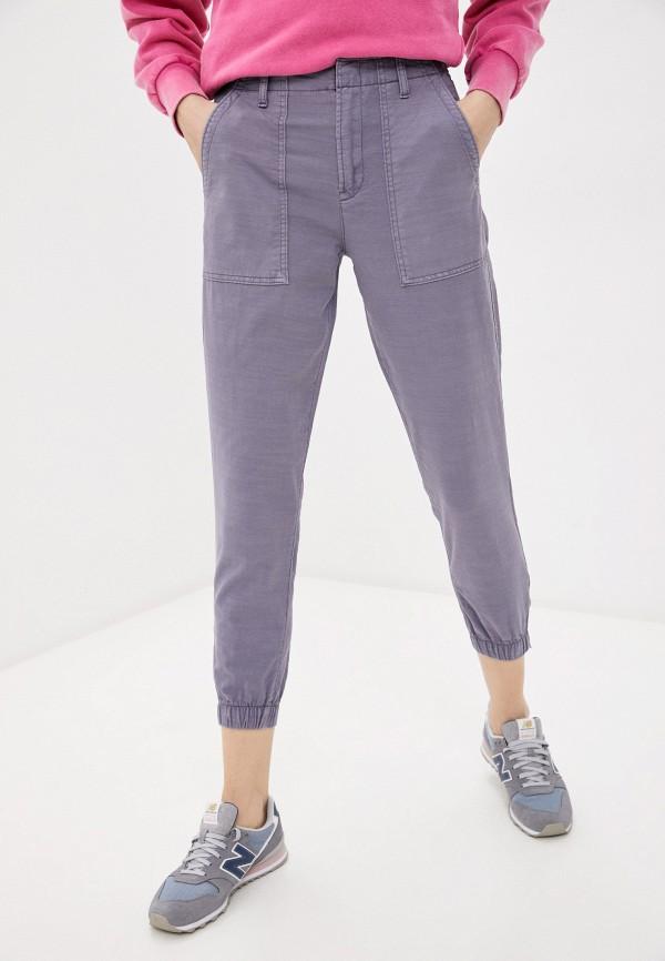 женские зауженные брюки gap, фиолетовые