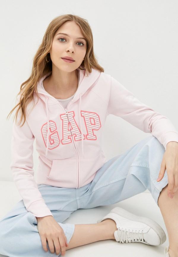 женская толстовка gap, розовая