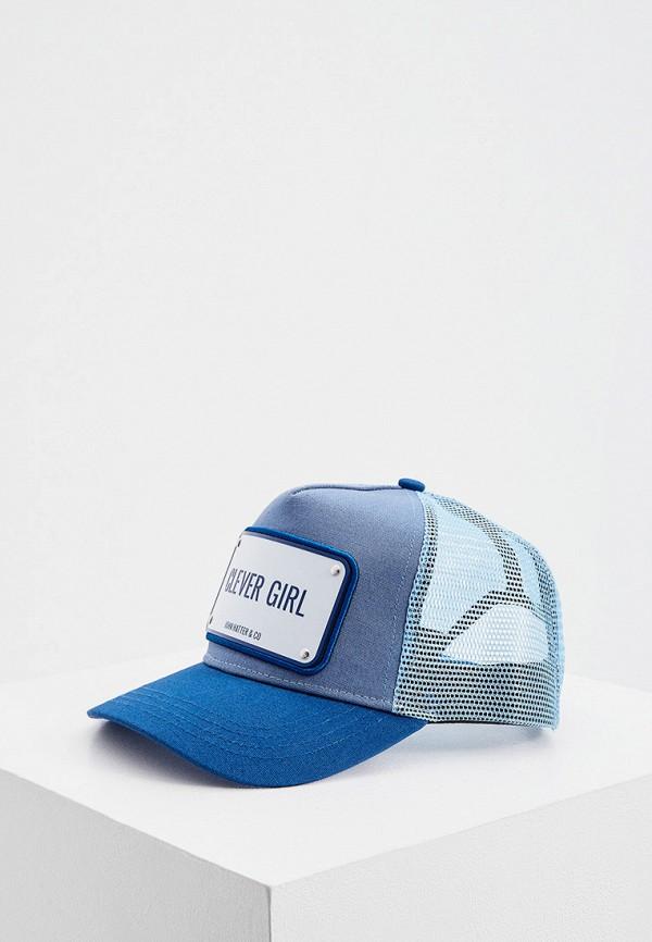 женская бейсболка john hatter & co, голубая