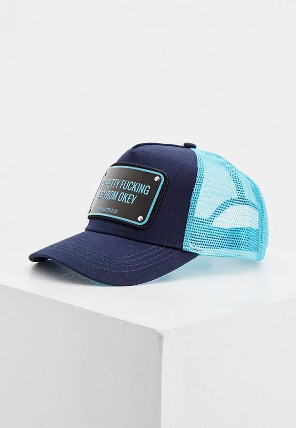 женская бейсболка john hatter & co, синяя
