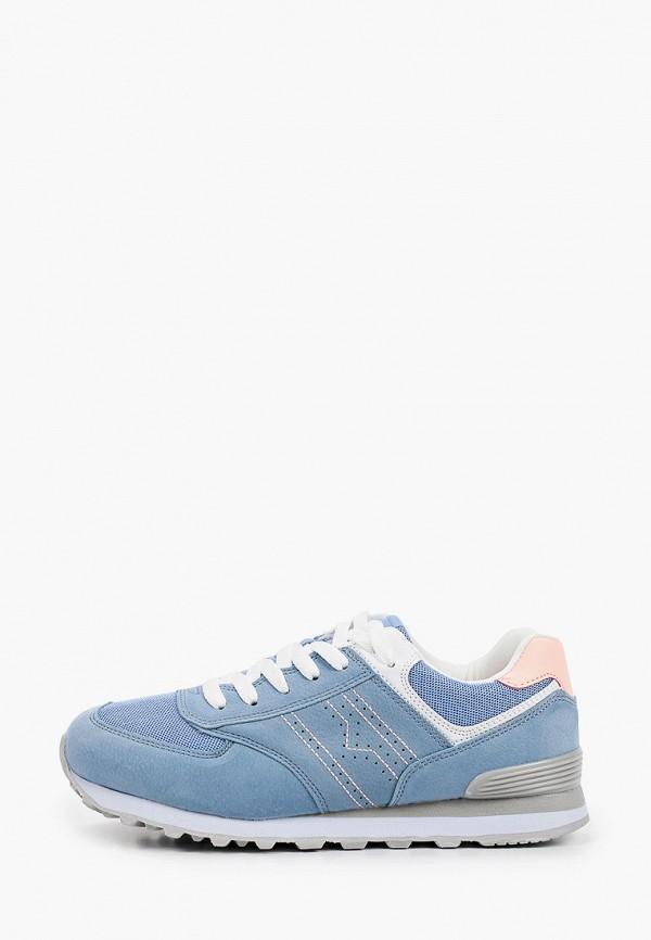 женские кроссовки beppi, голубые