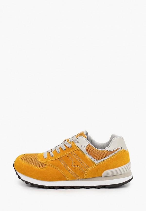 женские низкие кроссовки beppi, желтые