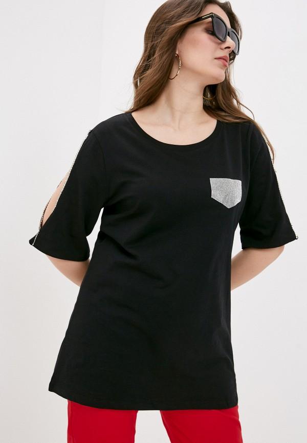 женская футболка sophia, черная
