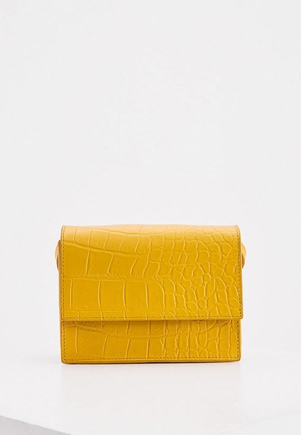 женская сумка через плечо whistles, желтая