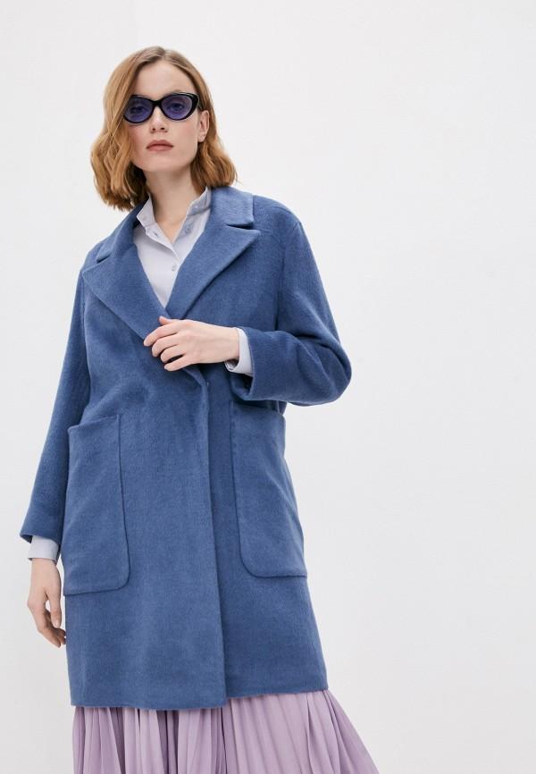 женское двубортные пальто whistles, синее