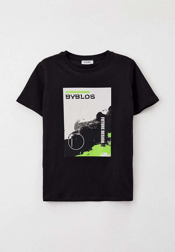 футболка с коротким рукавом byblos для мальчика, черная