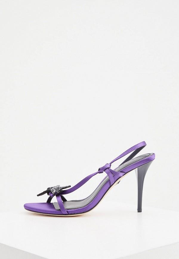 женские босоножки sandro, фиолетовые