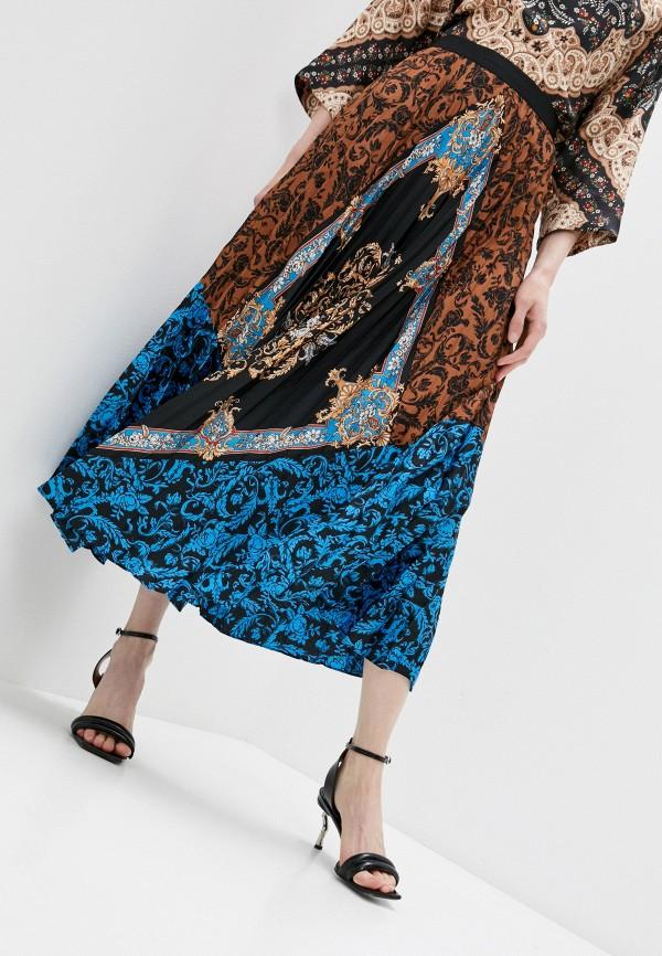 женская плиссированные юбка sandro, разноцветная