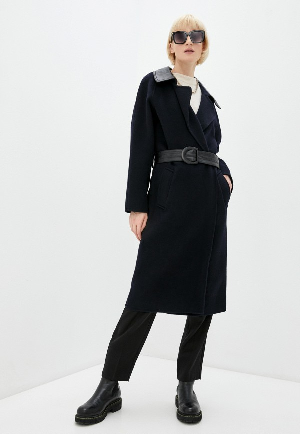 женское пальто sandro, черное
