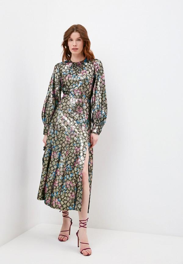 женское повседневные платье sandro, серебряное