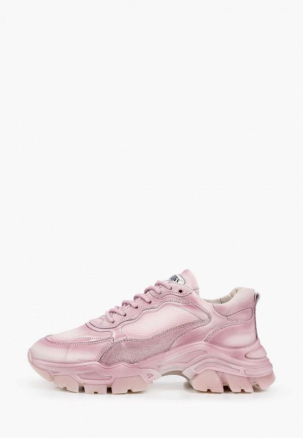 женские кроссовки bronx, розовые