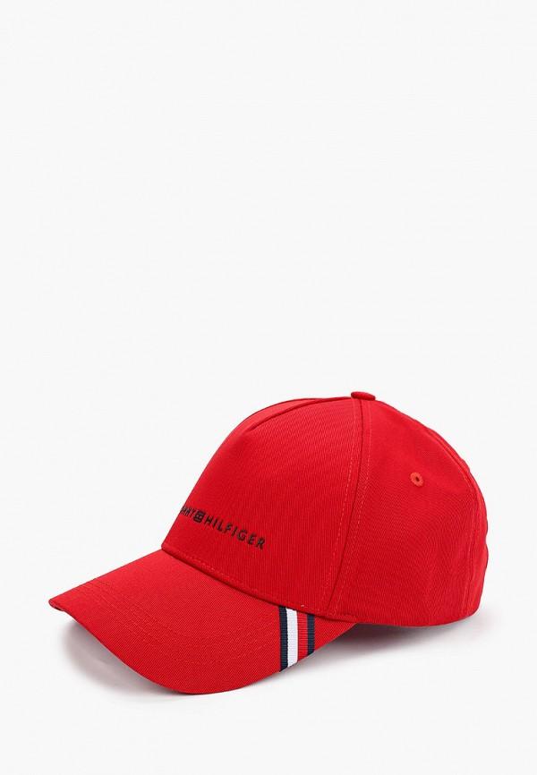 женская бейсболка tommy hilfiger, красная