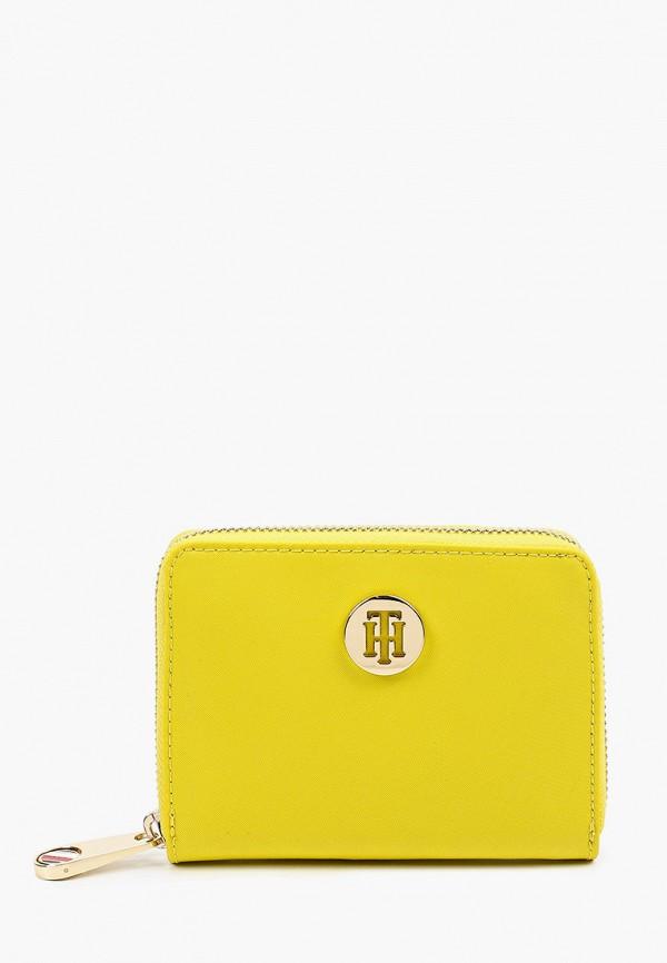 женский кошелёк tommy hilfiger, желтый