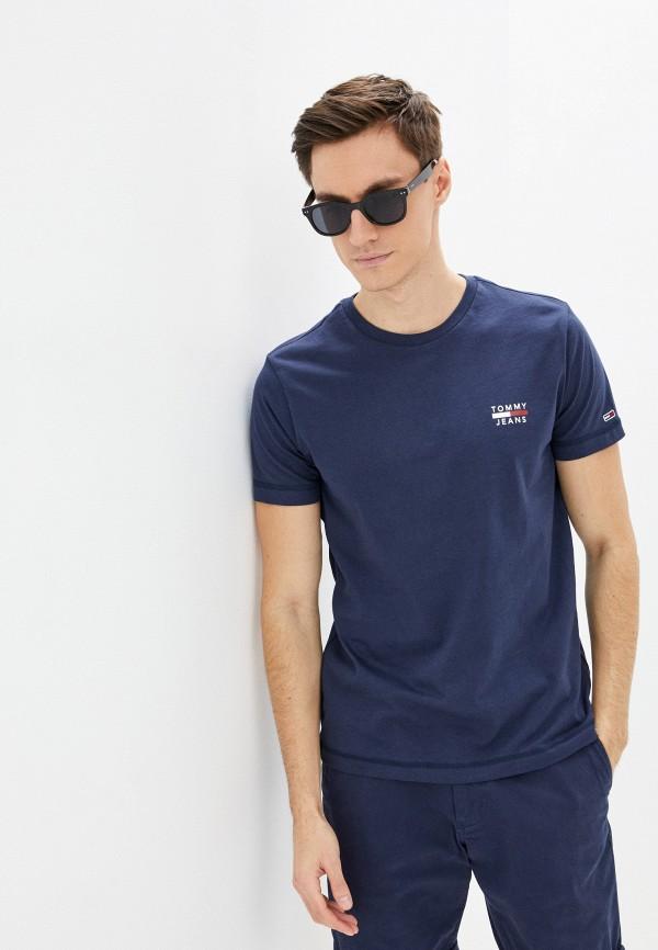 мужская футболка с коротким рукавом tommy jeans, синяя