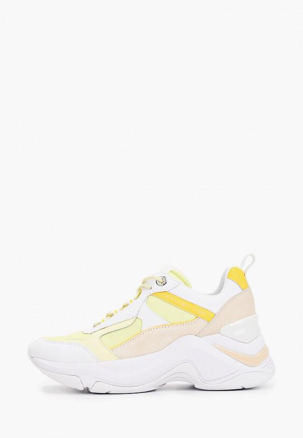 женские низкие кроссовки tommy hilfiger, желтые