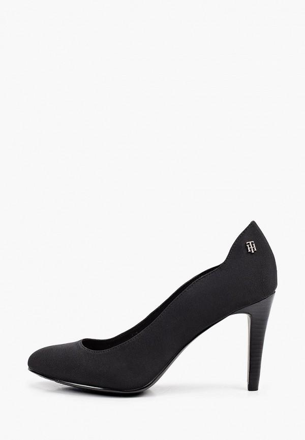 женские туфли-лодочки tommy hilfiger, черные