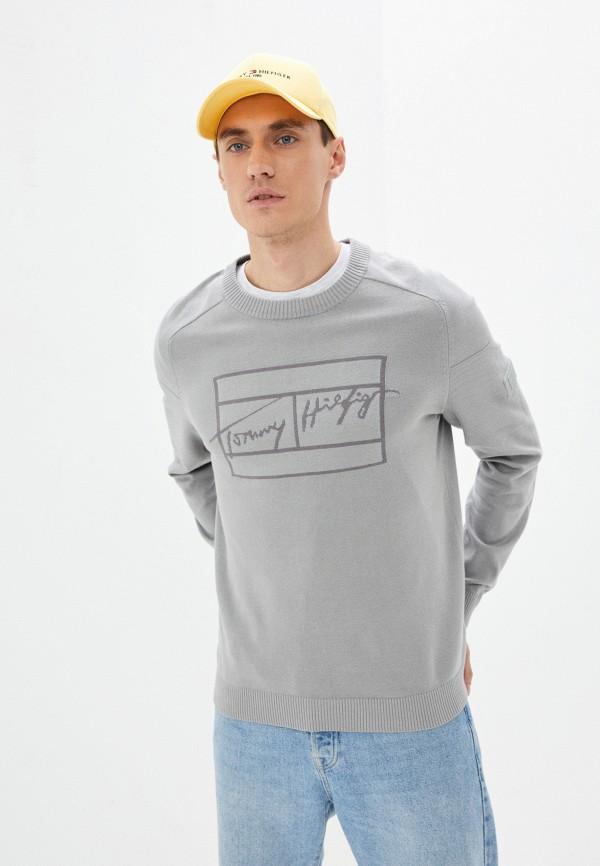 мужской джемпер tommy hilfiger, серый