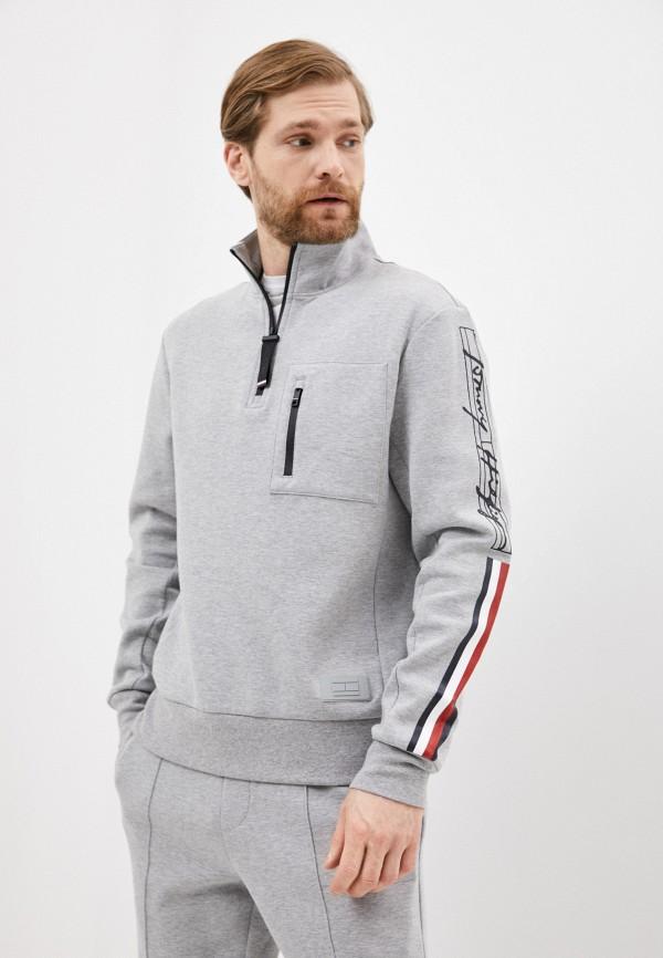 Олимпийка Tommy Hilfiger серого цвета