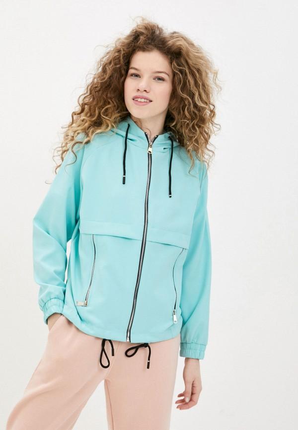 женская куртка adrixx, бирюзовая