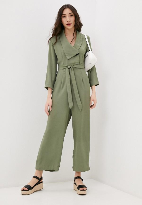 женский комбинезон b.style, зеленый