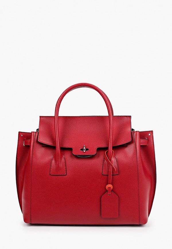 женская сумка с ручками roberta rossi, бордовая