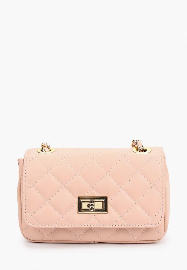женская сумка roberta rossi, розовая
