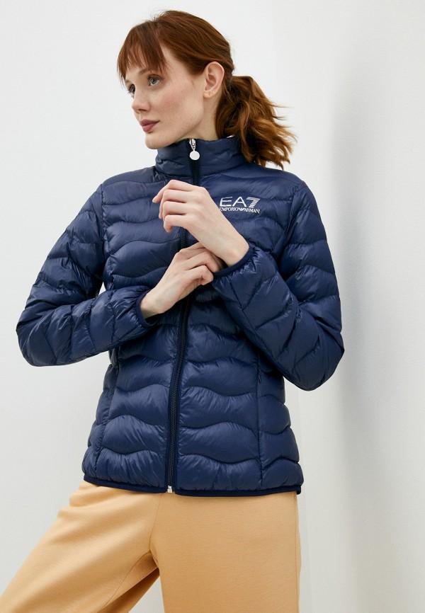 женская куртка ea7, синяя