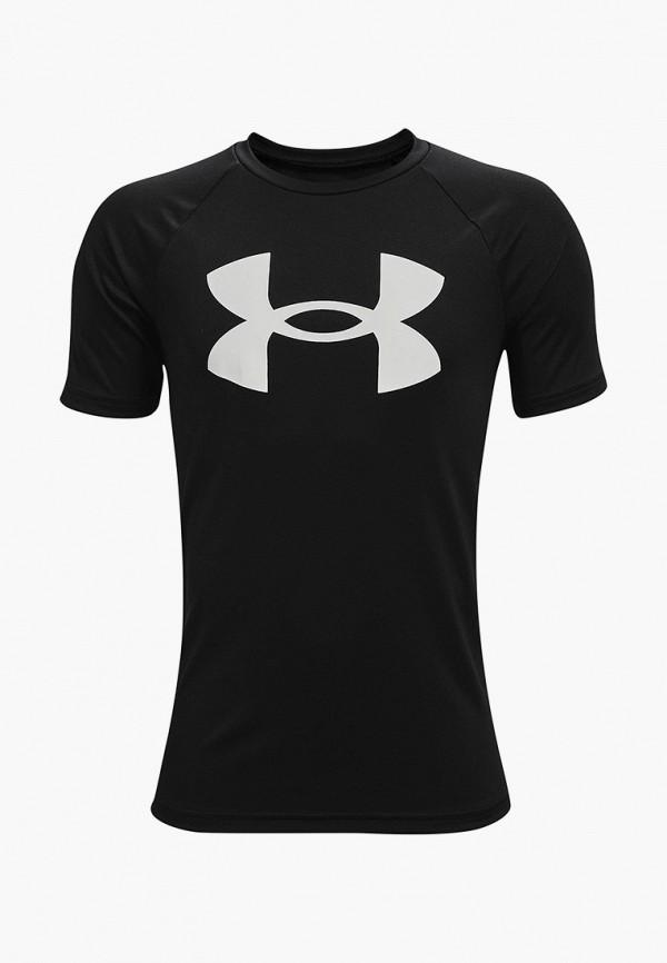 футболка с коротким рукавом under armour для мальчика, черная