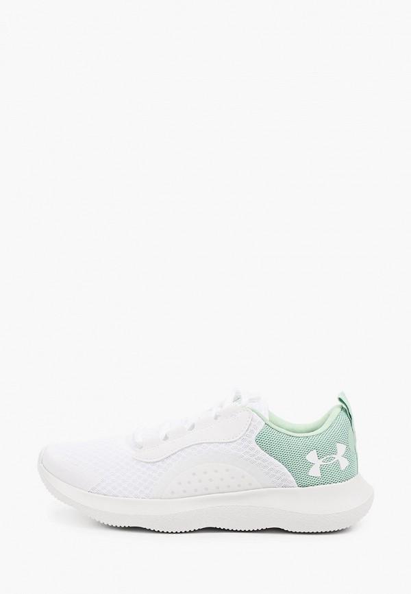 женские низкие кроссовки under armour, белые
