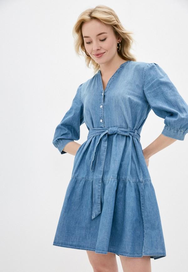 женское джинсовые платье jacqueline de yong, голубое