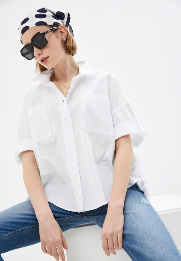 женская рубашка с длинным рукавом colcci, белая