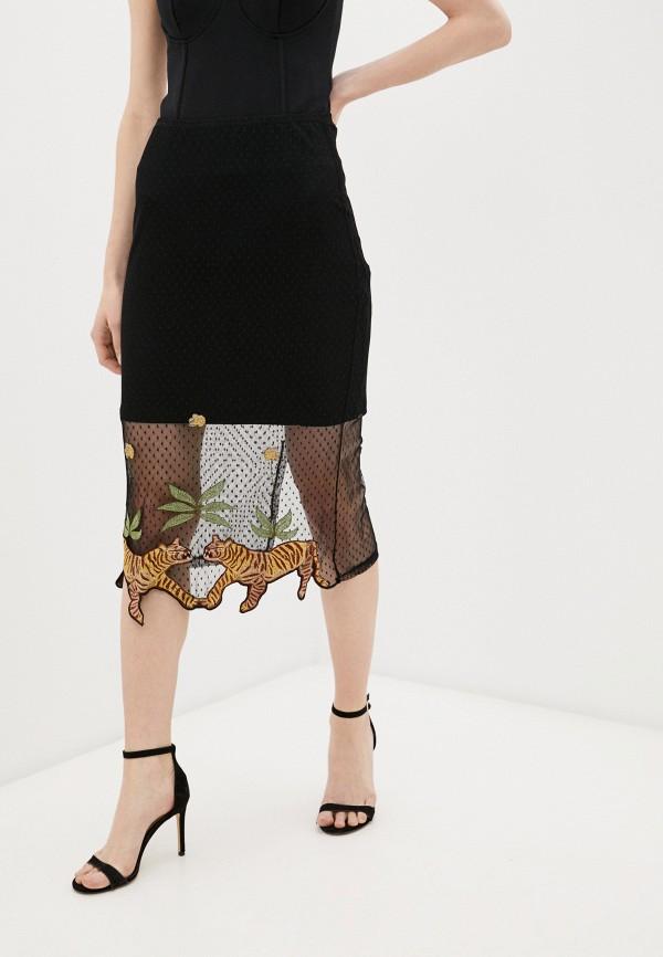 женская узкие юбка colcci, черная