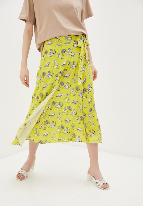женская юбка-трапеции colcci, желтая