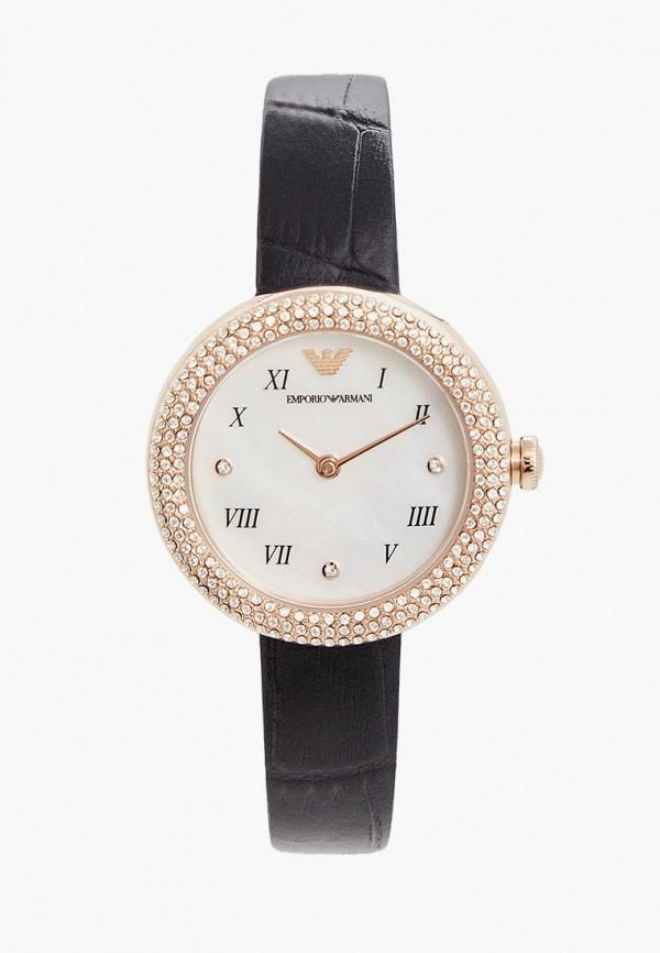 женские часы emporio armani, черные