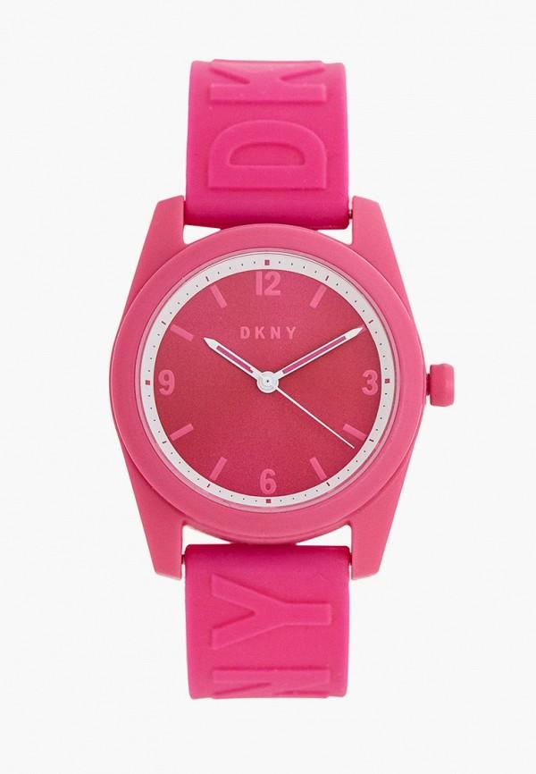 женские часы dkny, розовые